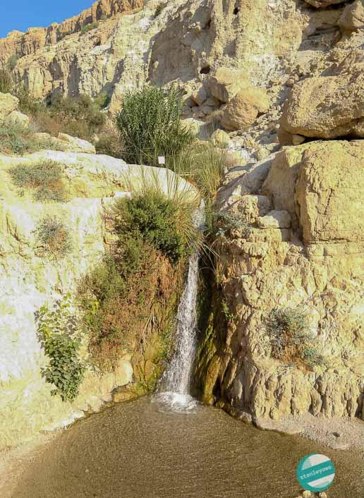 Wodospad w Ein Gedi