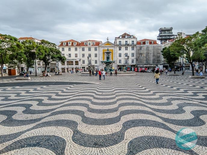 Klimatyczna Lizbona - Plac Rossio